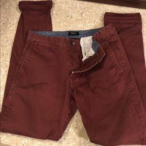 Men's Forever 21 maroon pants. Us 30